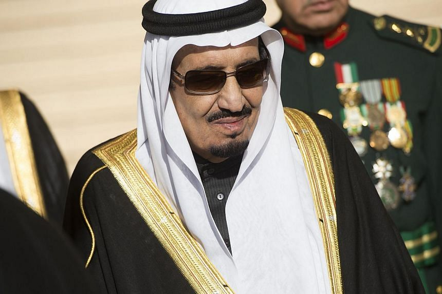 "Saudi Arabia's new King Salman (above) on Wednesday called the burning alive of a Jordanian fighter pilot ""inhuman and contrary to Islam"". -- PHOTO: AFP"