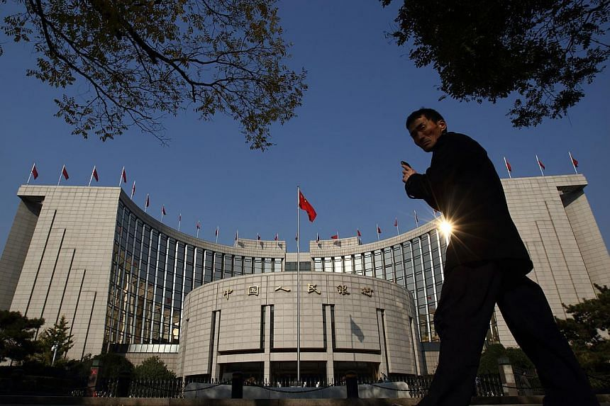 The reserve ratio will fall 50 basis points on Thursday, the People's Bank of China said on its website Wednesday. -- PHOTO: BLOOMBERG