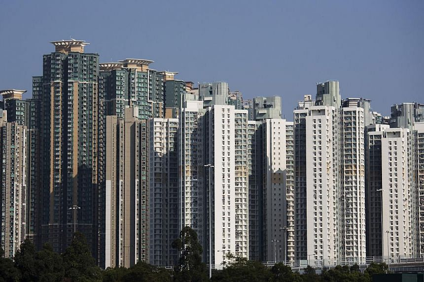 Residential buildings in the Lai Chi Kok district of Hong Kong on Jan 9, 2015. -- PHOTO: BLOOMBERG