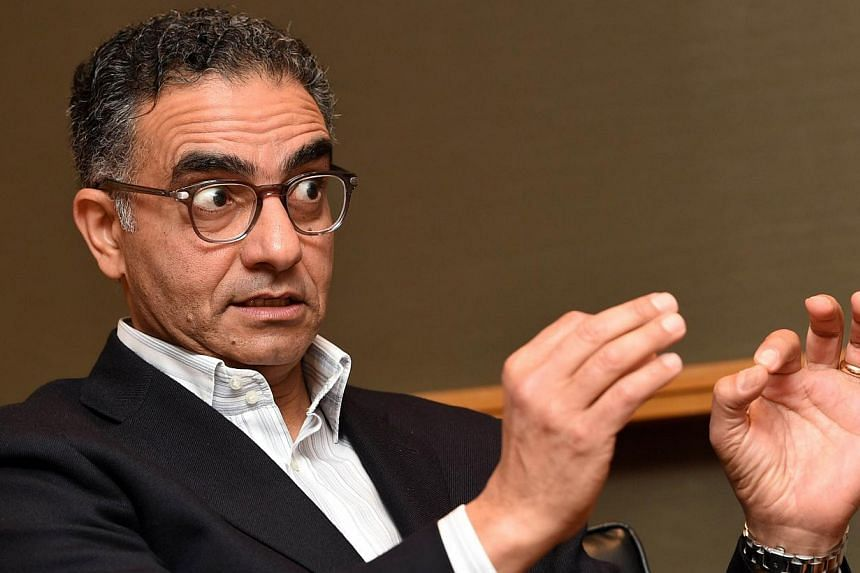 Fadi Chehade, chief executive of the Internet Corporation for Assigned Names and Numbers (Icann), speaking during an interview in Singapore on Feb 5, 2015. -- PHOTO: AFP