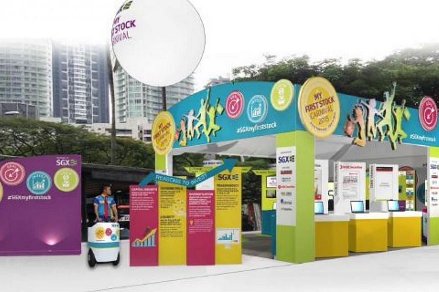 The Singapore Exchange (SGX) announced will hold its first-ever carnival this weekend as part of a campaign to educate new investors and encourage them to start investing. -- PHOTO: SGX