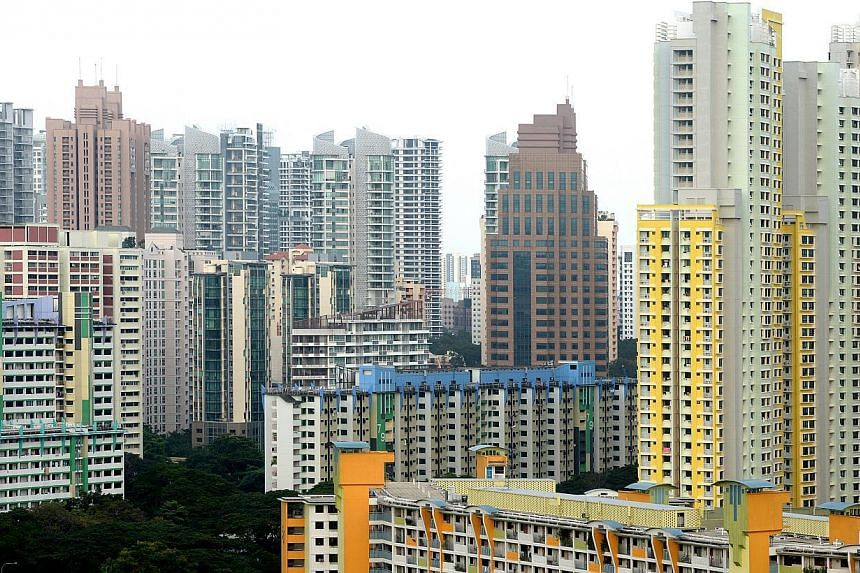 HDB flats in Jalan Bukit Merah. HDB resale prices edged up 0.6 per cent in January, the first increase in a year. -- ST PHOTO: JAMIE KOH