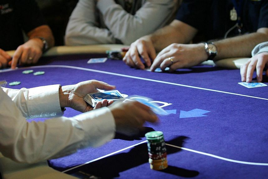 The number of hardcore gamblers as a proportion of the population has dropped, a new survey shows. -- PHOTO: THE NEW PAPER