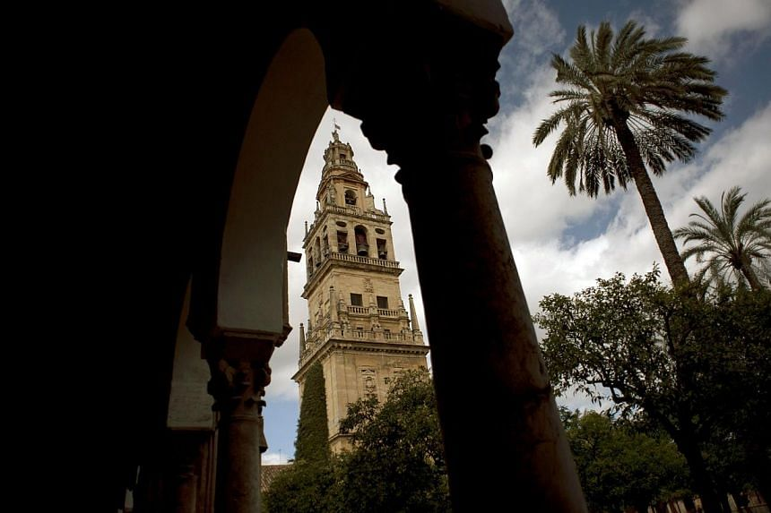 A picture taken on Mar 4, 2014, shows the Mosque-Cathedral of Cordoba. -- PHOTO: AFP