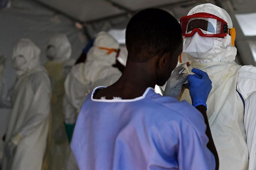 The number of people sick with Ebola fever has doubled in Guinea in the past week following the discovery of cases previously unknown to health authorities, a Guinea health official said on Friday. -- PHOTO: AFP