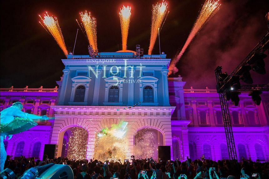 The eighth edition of the Singapore Night Festival returns to the Bras Basah-Bugis precinct with performances, light installations and diverse activities. -- PHOTO: NATIONAL HERITAGE BOARD