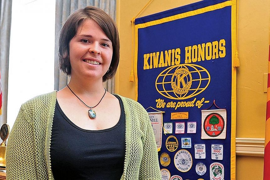 This handout photo courtesy of the Daily Courier in Prescott, Arizona, shows Kayla Mueller in 2013. -- PHOTO: AFP