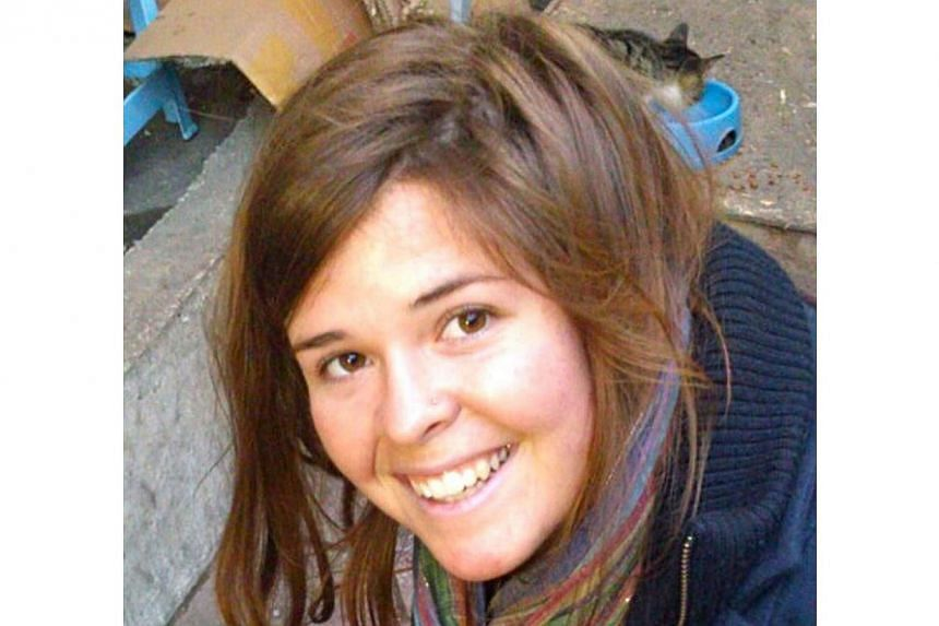 26-year-old Kayla Mueller in an undated photograph. She is suspected to be the woman killed in a coalition air strike in Syria but this claim by the Islamic group ISIS has not been verified. -- PHOTO: AFP