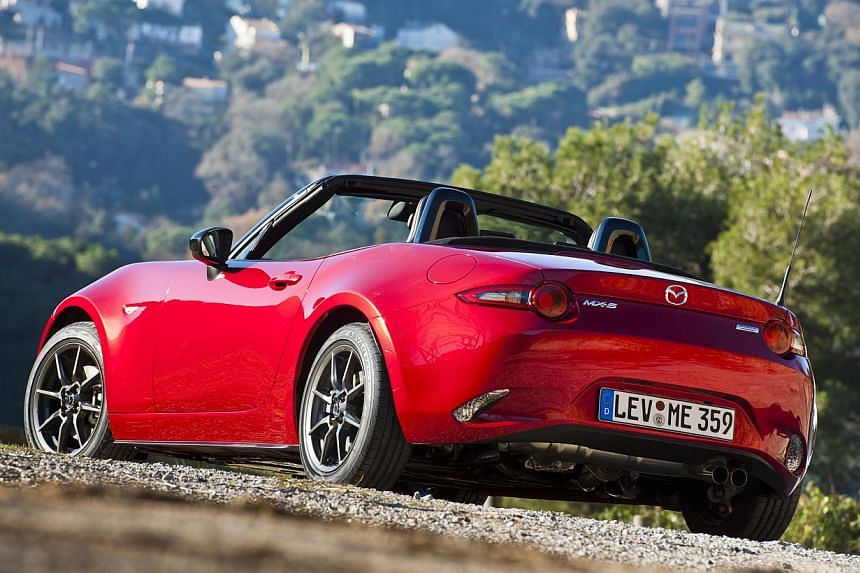The upcoming Mazda MX-5 is designed with the driver in mind. -- PHOTO: MAZDA MOTOR