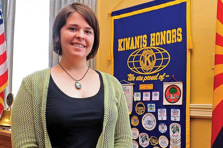ISIS militants claimed on Friday that a female American hostage - thought to be 26-year-old aid worker Kayla Jean Mueller (above) - had been killed in an air strike in Syria by the US-led coalition. -- PHOTO: EPA