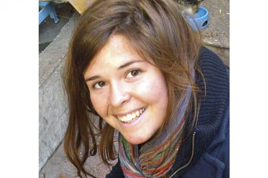 Jordan said on Friday it was highly sceptical about ISIS claims that an American woman held hostage by the militants in Syria - thought to be aid workerKayla Jean Mueller (above) -had been killed in a bombing raid by Jordanian fighter jet