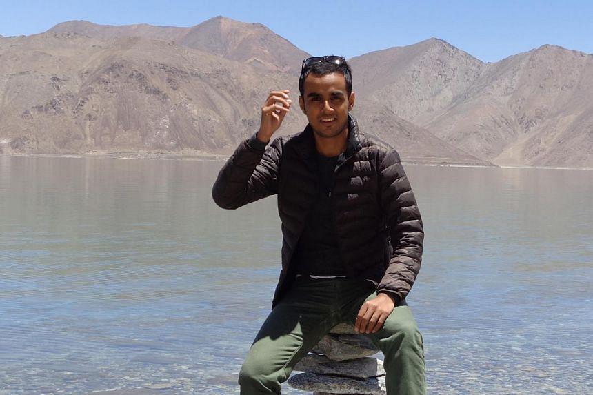 Mr Chinmay Malaviya in Ladakh, India. --PHOTO: CHINMAY MALAVIYA