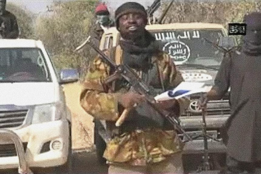 A screen grab made on Jan 20, 2015 from a video of Nigerian Islamist extremist group Boko Haram shows Boko Haram leader Abubakar Shekau delivering a message. -- PHOTO: AFP