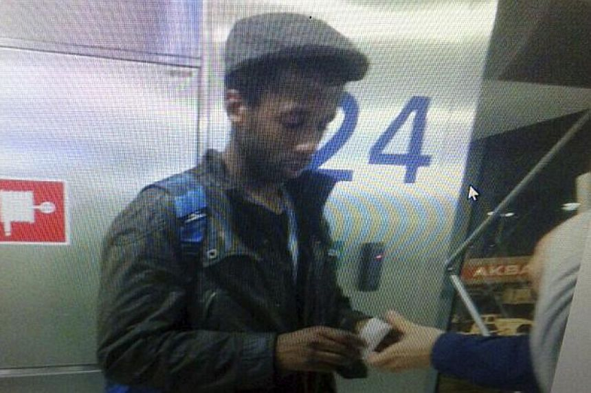 French citizen Moussa Coulibaly, a suspect in a Nice stabbing attack, is seen in this still image taken from surveillance video at Ataturk International airport in Istanbul, Turkey, on Jan 29, 2015. -- PHOTO: REUTERS