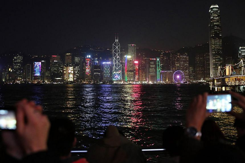 Hong Kong achieved stellar growth of 142 per cent to US$640 billion worth of in assets under management in the same period, recording the strongest expansion among all contenders. -- PHOTO: AFP