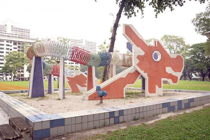 The dragon playground in Toa Payoh Lorong 6 on Aug 15, 2014.Heartland locale Toa Payoh joins attractions Sentosa and Orchard as some of Singaporeans' most cherished places, according to SG50 project SG Heart Map. -- PHOTO: ST FILE