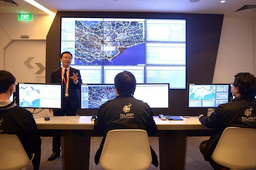 Tech solutions provider NCS opened a new lab to test next-generation tech solutions that can help Singapore to integrate information across agencies, stream closed-circuit television footage and gather real-time traffic data - all on one screen, on M