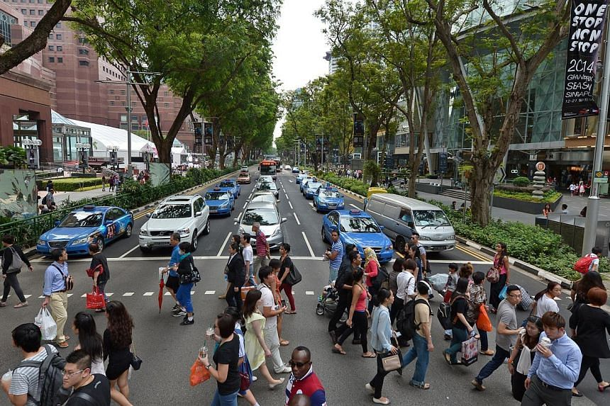 Shopping hub Orchard Road was on the list of most memorable locations. -- PHOTO: ST FILE