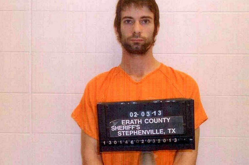 Eddie Ray Routh is pictured in this undated booking photo provided by the Erath County Sheriff's Office. Routh is accused of killing former Navy Seal Chris Kyle. -- PHOTO: REUTERS