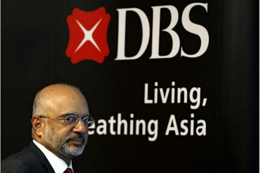 DBS chief executive Piyush Gupta announced a $1,000 cash gift to each of the bank's 18,000 employees on Wednesday, as part of celebrations marking Singapore's 50th birthday. -- PHOTO: REUTERS
