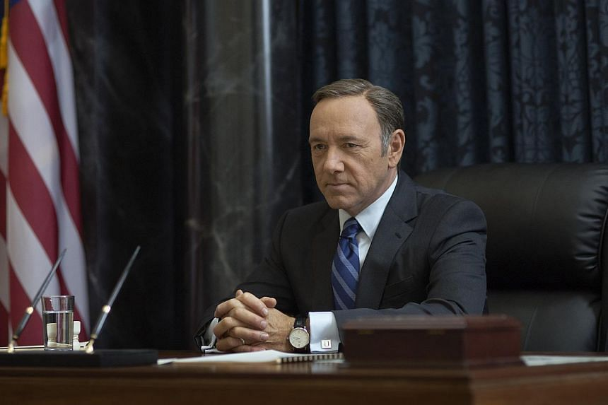 The award-winning show features Kevin Spacey as Frank Underwood, a ruthless politician who will stop at nothing to have his way. -- PHOTO: MRC II DISTRIBUTION COMPANY