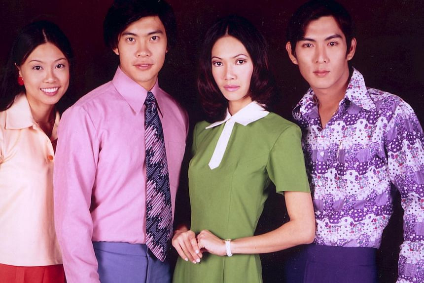 The Tay siblings in Growing Up comprised (from left) Tammy (played by Jamie Yeo), David (Steven Lim), Vicky (Irin Gan) and Gary (Andrew Seow). --PHOTO: COURTESY OF IVAN TAY