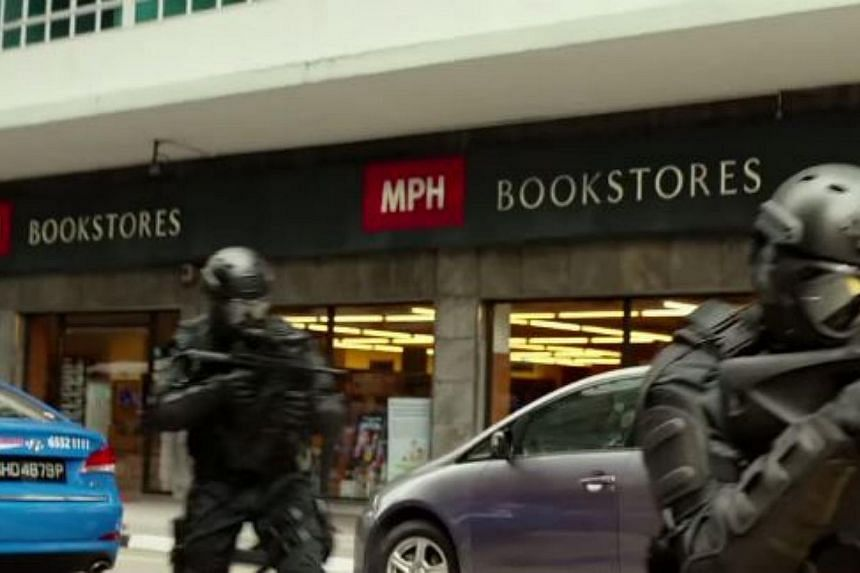 MPH Bookstores can also be seen Hitman: Agent 47's new trailer. -- PHOTO: YOUTUBE