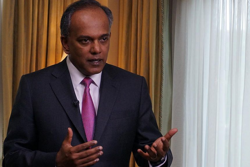 Law Minister K. Shanmugam speaks to reporters on the final day of his one-week tour to Washington, United States. Alleging that the Workers' Party over-paid a managing agent run by its supporters, Shanmugam said in Parliament on Thursday th