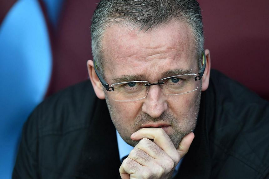 Aston Villa have sacked manager Paul Lambert after the free-falling midlands club dropped into the relegation zone, the Premier League club said on Wednesday.-- PHOTO: AFP