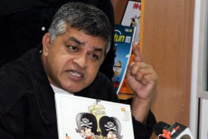 Controversial Malaysian cartoonist Zulkifli Anwar Ulhaque, better known as Zunar, will release a new book focusing on Prime Minister Najib Razak's wife Rosmah Mansor. -- PHOTO: KEADILAN DAILY