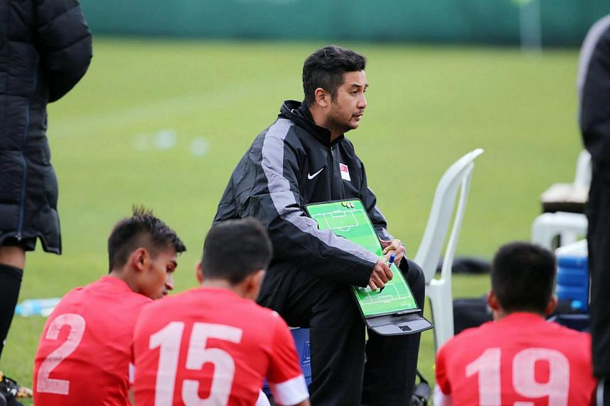 Singapore Under-23 coach Aide Iskandar is expecting an improved showing from his players as they step up their pre-season preparations with a friendly against Japan's Under-22 side at the Jalan Besar Stadium on Saturday. -- PHOTO: FAS