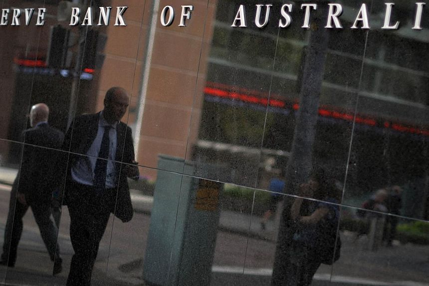 Australia's central bank on Feb 3, 2015 lowered its key interest rate by 25 basis points to a new record low of 2.25 percent. -- PHOTO: AFP