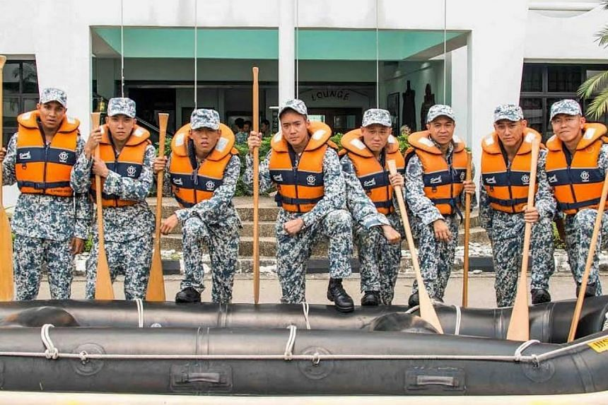 The Ah Boys To Men crew of National Service recruits must take on a whole new challenge - the gruelling training regimen of the Naval Diving Unit. -- PHOTO: GOLDEN VILLAGE PICTURES