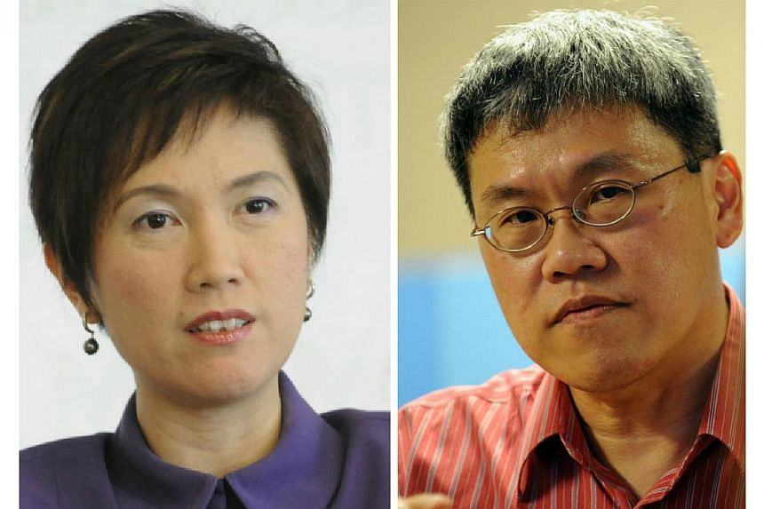 Senior Minister of State for Finance and Transport Josephine Teo (left)on Friday challenged MP Png Eng Huat (Hougang) to cite instances where the Auditor-General's Office (AGO) had reached the same conclusions in its routine audits of governmen