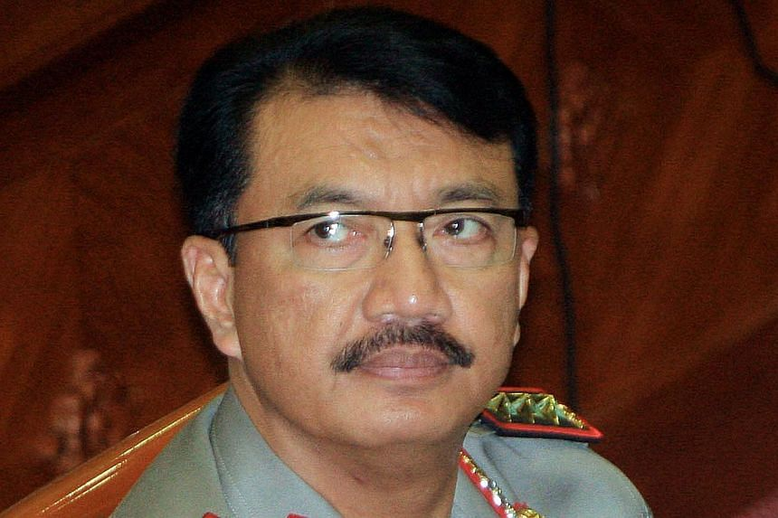 Indonesia's President is expected to drop Budi Gunawan as his choice for national police chief after the police general was named a corruption suspect. -- PHOTO: AFP