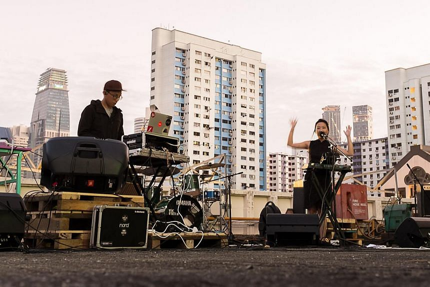 The rooftop of People's Park Complex has been used for concerts as well as a night market and an urban farm.-- PHOTO: MATIN LATIF