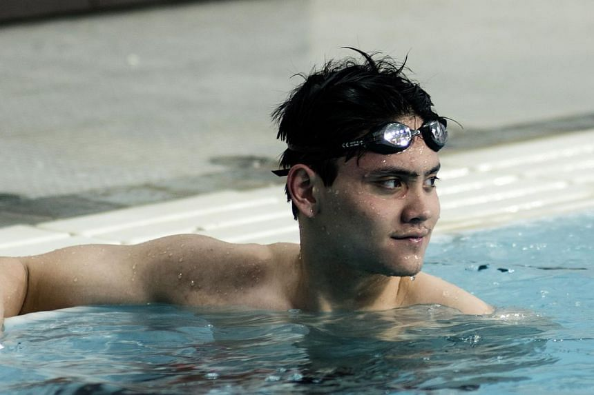 Singapore's top male swimmer Joseph Schooling is pushed to the limits daily, during training with other talented youngsters in Austin, Texas.