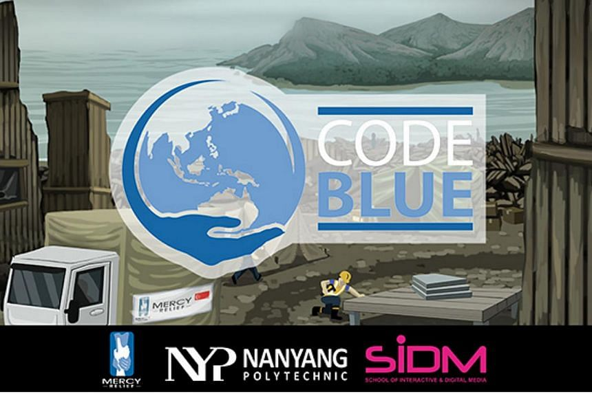 The aid mission game Code Blue is a new computer game developed by Mercy Relief and Nanyang Poly. -- PHOTO: MERCY RELIEF