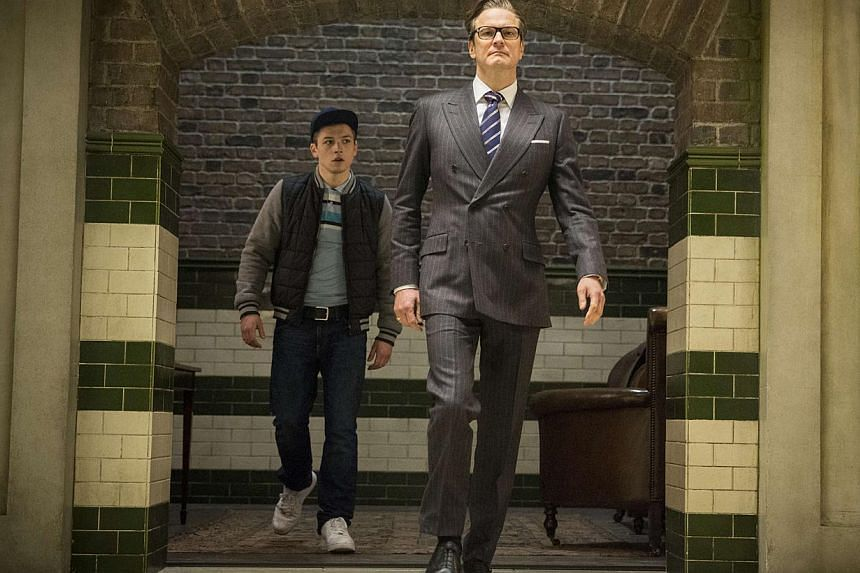 Colin Firth (right) and Taron Egerton star in Kingsman: The Secret Service, an update of the spy movie. -- PHOTO: FOX