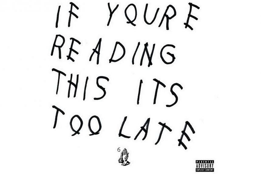 The musician linked to the iTunes page of the 17-track album, entitled If You're Reading This It's Too Late, in a post on Twitter. -- PHOTO: TWITTER/DRAKE
