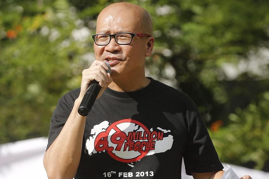 The police have rejected activist Gilbert Goh's application for a permit to hold an event at the Speakers' Corner in Hong Lim Park. -- ST PHOTO: KEVIN LIM