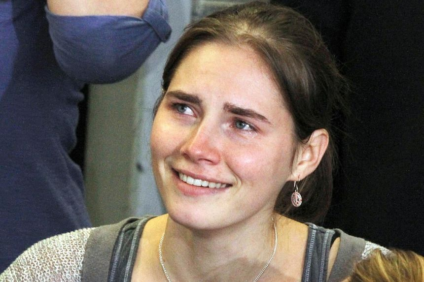 Amanda Knox (above), the American whose trial and conviction for the murder of a young British student in Italy made her a household name, is getting married, a US newspaper reported. -- PHOTO: AFP