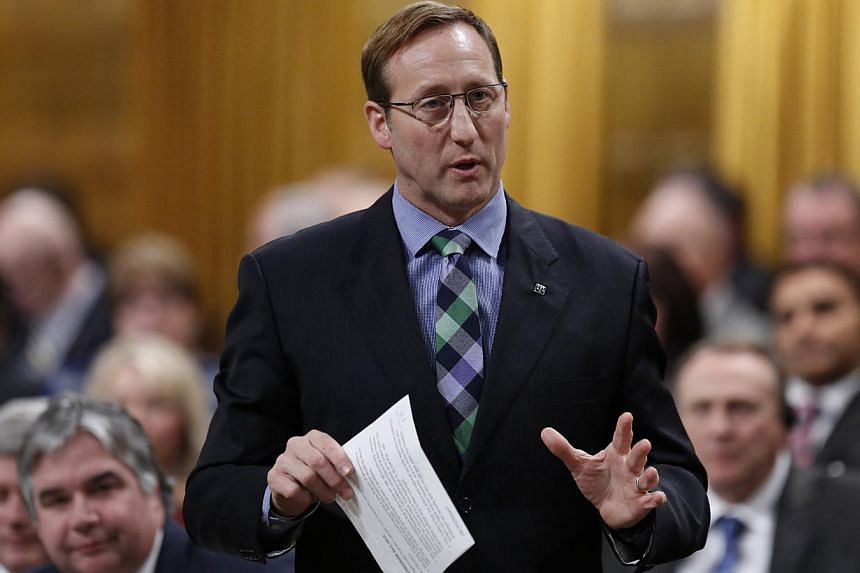 "A group of ""murderous misfits"" planned to massacre as many people as possible in a Valentine's Day shooting spree that police foiled after an anonymous tip-off, Canadian Justice Minister Peter MacKay (above) said on Saturday. -- PHOTO: REUT"