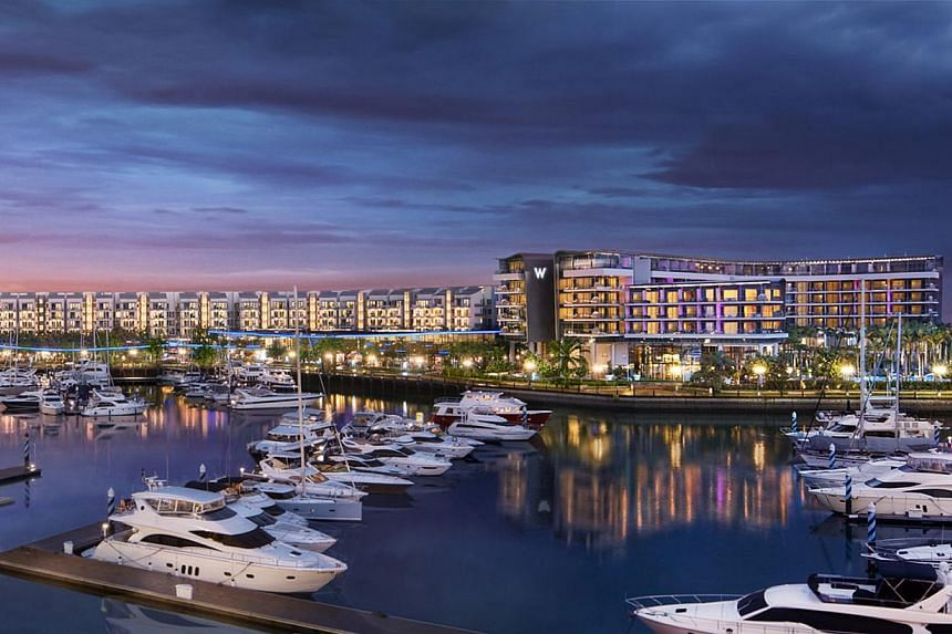 Artist's impression of the Quayside Collection, City Developments Limited's (CDL) exclusive integrated waterfront development at Sentosa Cove. The listed property heavyweight announced a record net profit of $384.9 million for the fourth quarter ende
