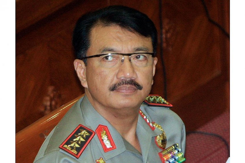An Indonesian court has ruled that three star general Budi Gunawan, shown here in this Jan 14, 2015, photo, should no longer be considered a graft suspect. This leaves him free to take up the job as the country's police chief. -- PHOTO