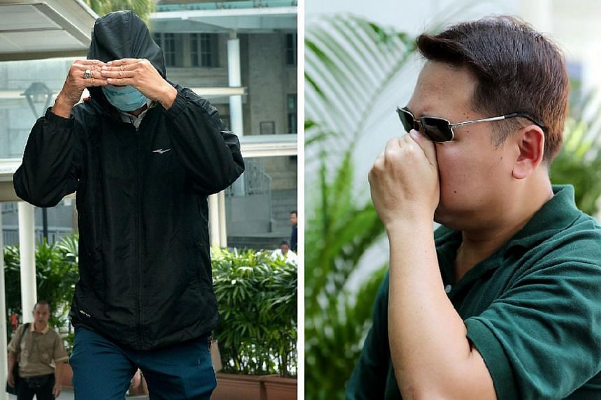 Driving instructor Yap Kah Hsiang (left) was fined $16,000 for getting Tan Guan Xi (right), a dealer supervisor working at the Marina Bay Sands casino, to illegally award membership points to him. -- PHOTOS: KUA CHEE SIONG