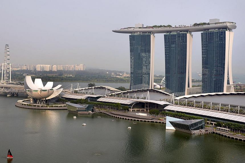 The Marina Bay Sands integrated resort. Singapore recorded the third-highest average hotel room rates in the Asia Pacific last year, with Melbourne and Sydney taking the first and second spots respectively. -- ST PHOTO: LIM SIN THAI