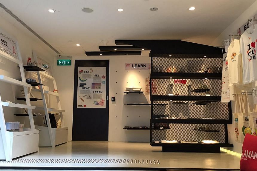 The centre's retail space, which sells souvenirs made by local designers.