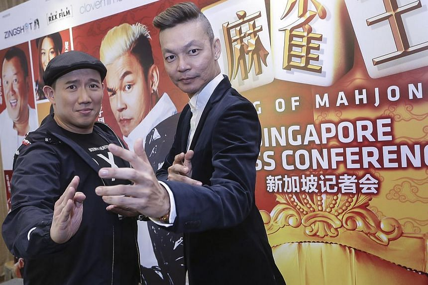 King Of Mahjong (left) stars Hong Kong actor Chapman To (below left) and Singaporean actor Mark Lee (right), who bonded over meals in Ipoh.