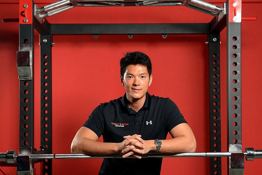Gold's Gym's Chung Tze Khit has never felt like giving up despite the ups and downs in his business. -- ST PHOTO: DESMOND WEE